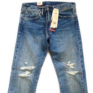 Levi's 511 Slim Selvedge Distressed Jeans 33